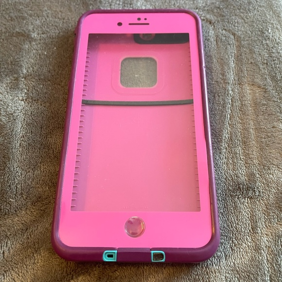Pink lifeproof case for 7/8 plus iPhone